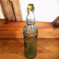 Beautifully Decorated Recycled Green Glass Bottle
